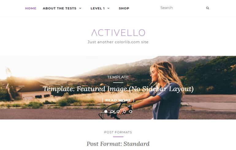 Activello - A Free WP Blog Website Template