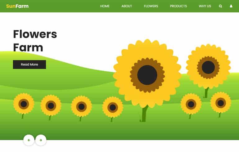 Sunfarm : A Flower Farm HTML Template agriculture business website