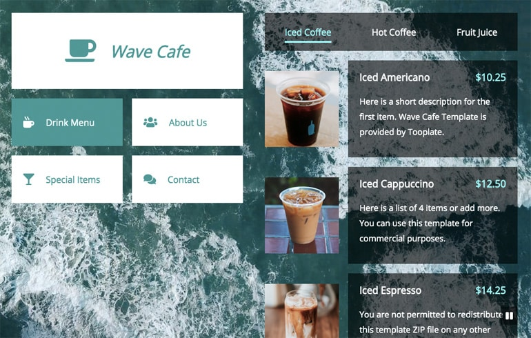 Cafe Wave Template