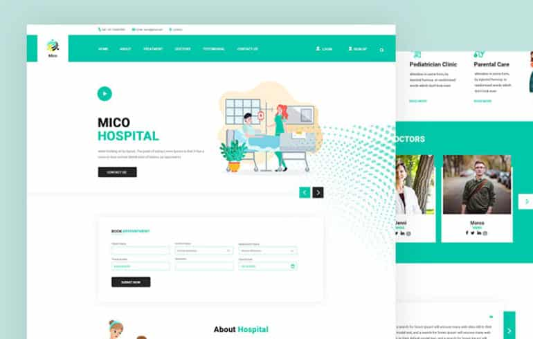 Mico for Hospital PSD Template