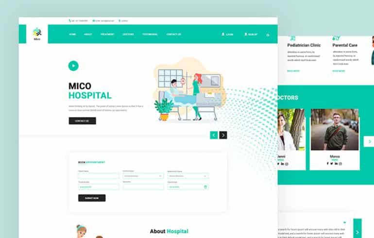 Mico for Hospital PSD Template