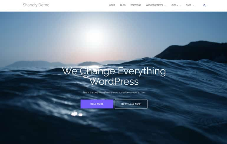 Shapely - A Free OnePage WordPress Template