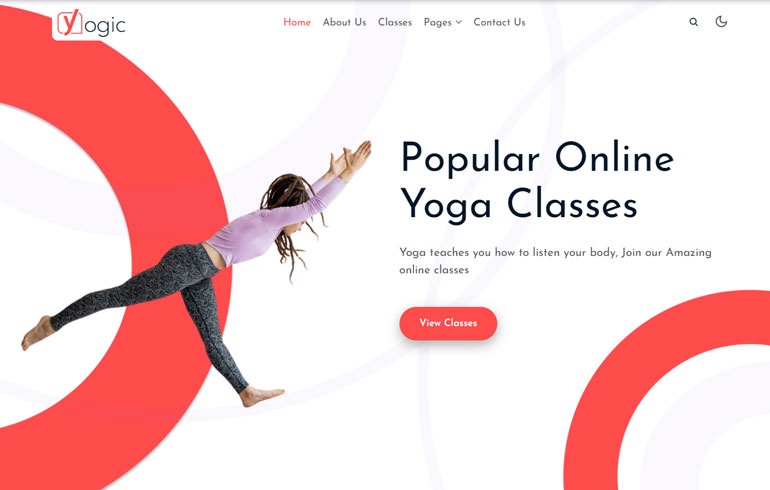 Yogic - Sports Bootstrap Website Template