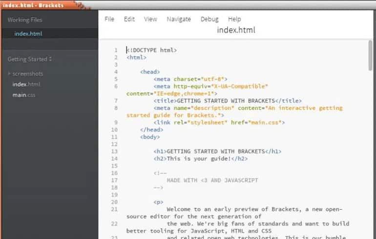 Brackets : CSS Editor