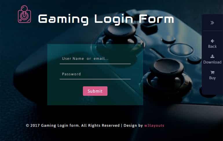 free Login Form online