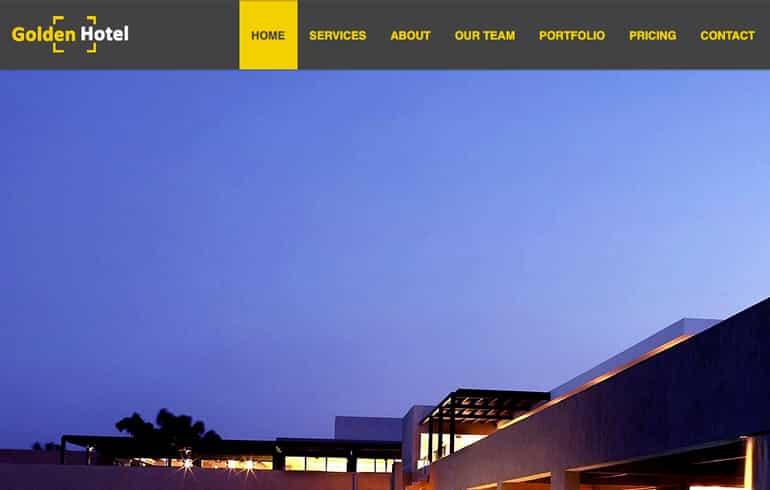 Golden Hotel - Website Template Built with HTML CSS