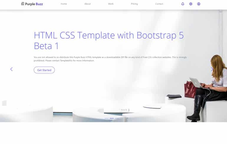 Purple Buzz - CSS template based on Bootstrap 5