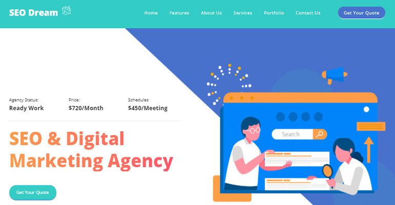 SEO Dream - CSS template for Search Engine Optimization Template