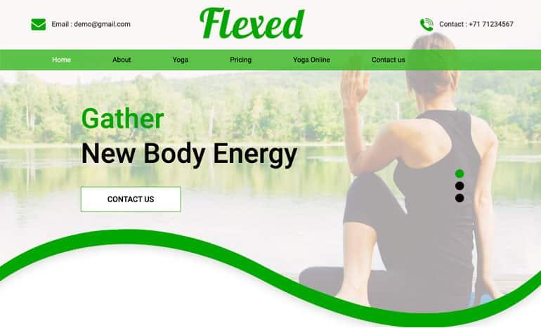 Flexed - A Yoga HTML Template