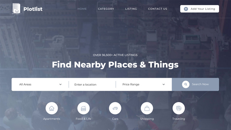 Plot/Property Listing with HTML CSS