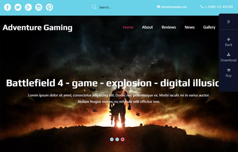 free game online website templates
