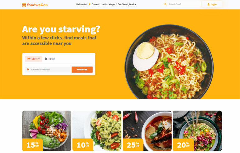 FoodWagon Website Template