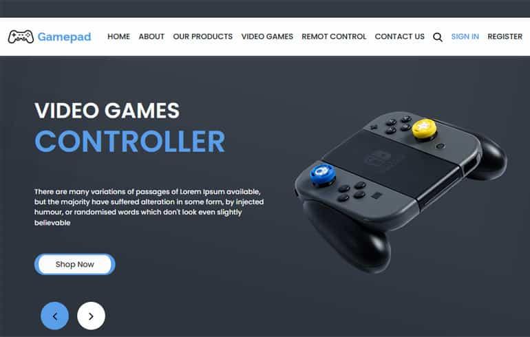 Gamepad – Free Video Games Template