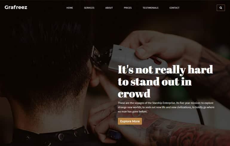 Grafreez - A Hair Salon HTML Template
