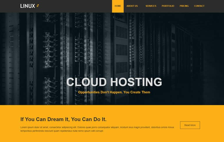 Linux - Free Bootstrap 5 HTML5 Business Website for hosting