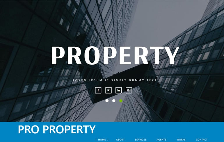Free Template for Property Websites