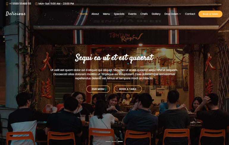 free css cafe Website template