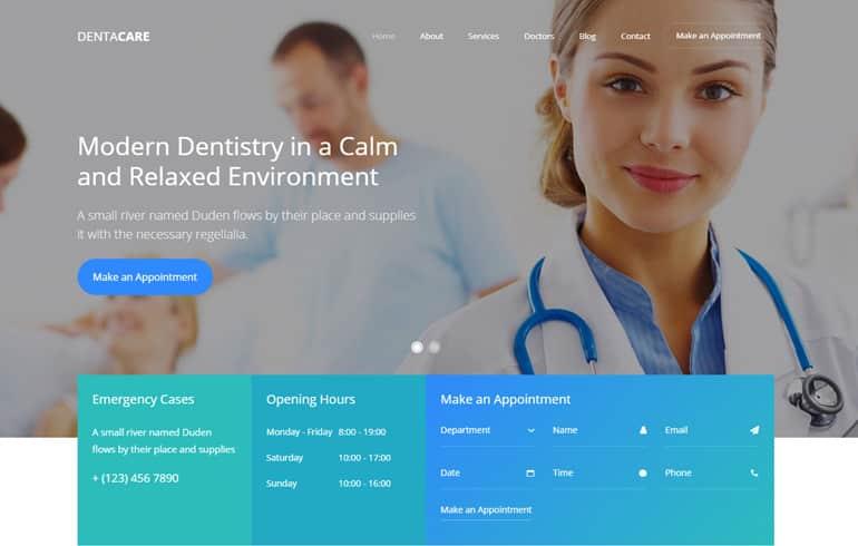 free css Dental Minimal Theme