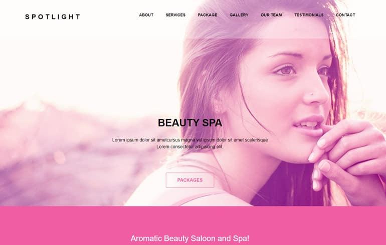 Spotlight - Beauty SPA HTML Bootstrap Template