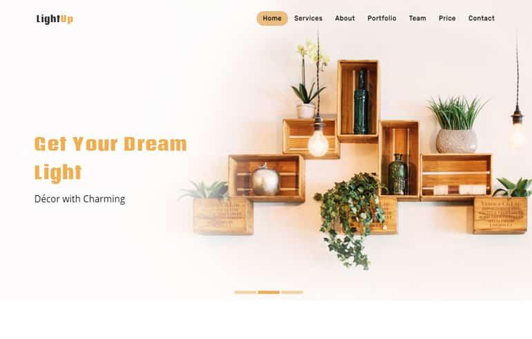 Lightup - Interior Design Bootstrap Template