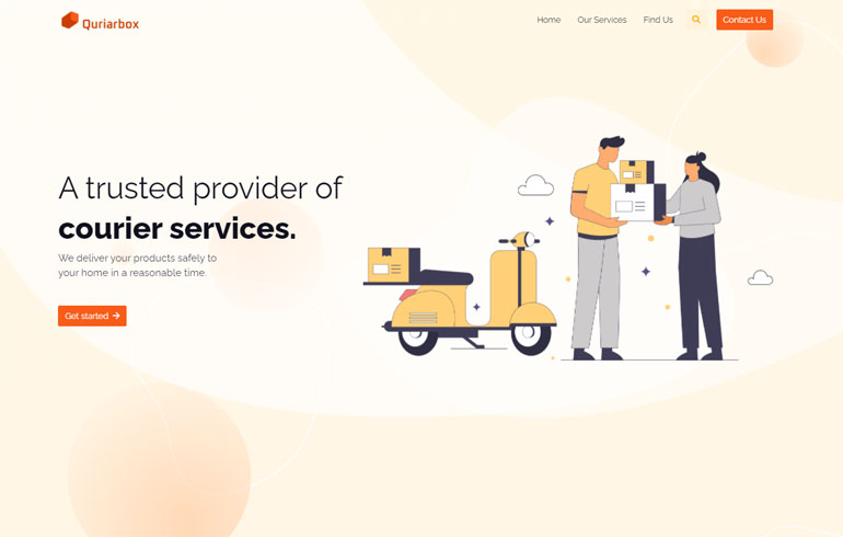 A Free Template for Courier Service