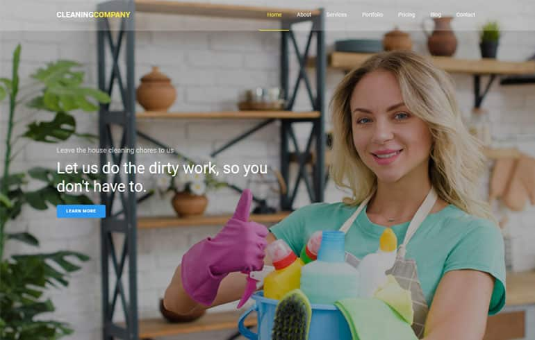 A Free CSS for Cleaning Service