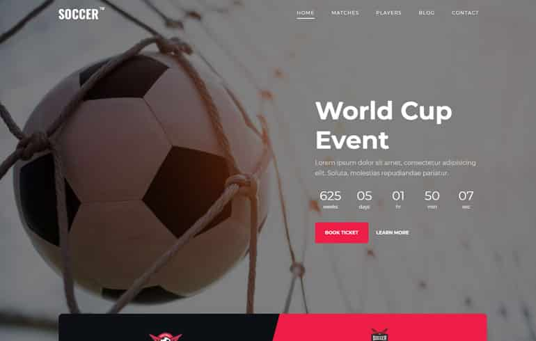 Sports Bootstrap Website Template
